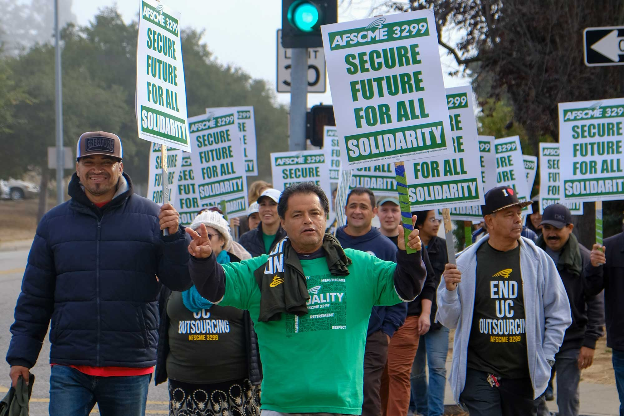UC Workers Demand End to Outsourcing