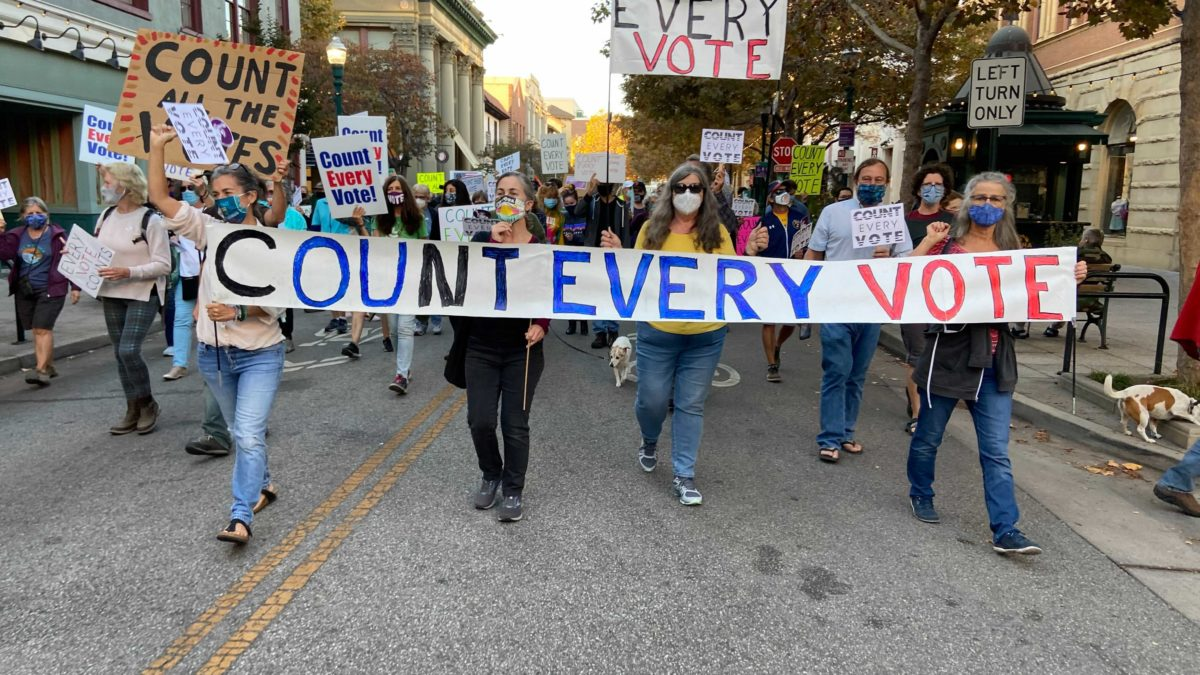 """Count Every Vote"": Santa Cruz Residents March for Election Integrity"