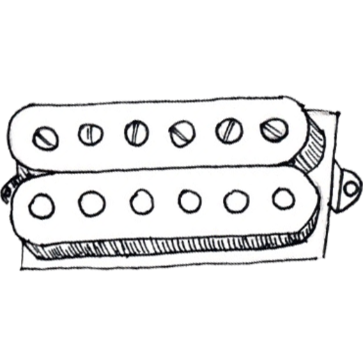 Humbucker pickups with no coil.