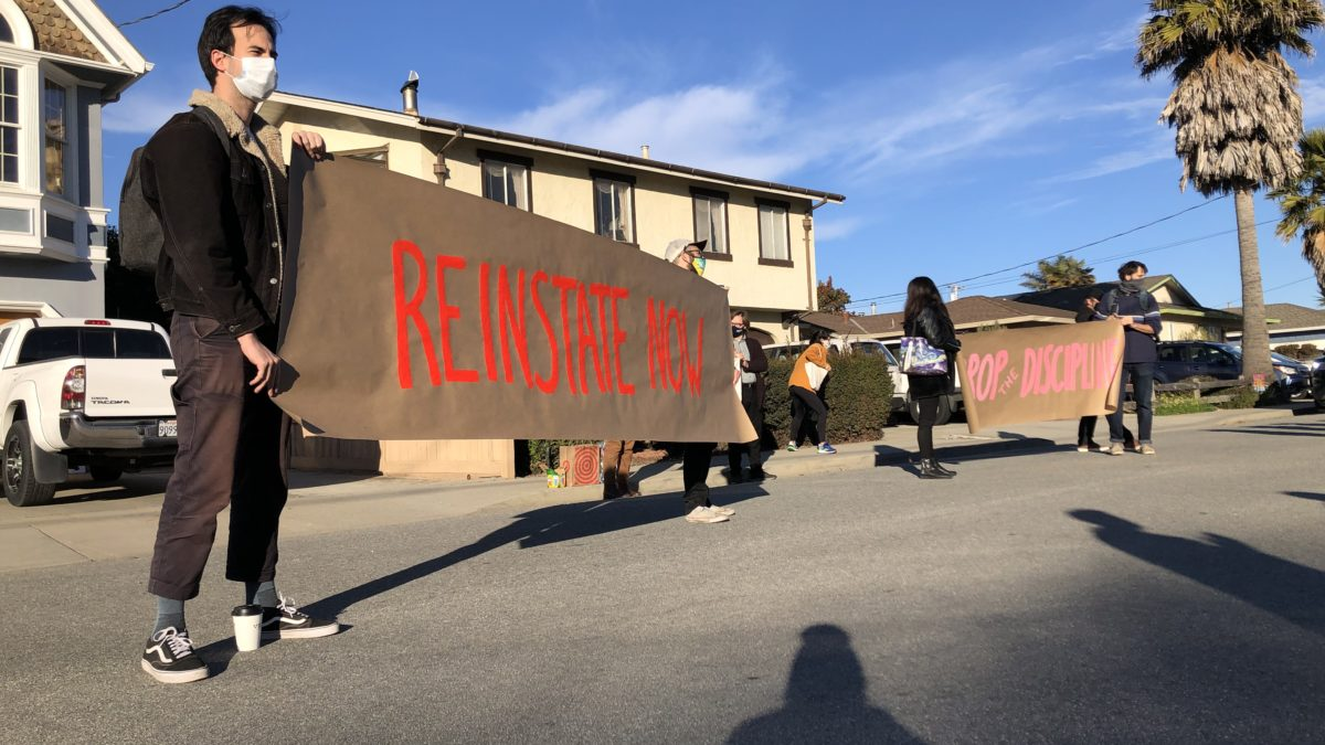 Students, Faculty Protest Carlos Cruz Suspension at Chancellor's House